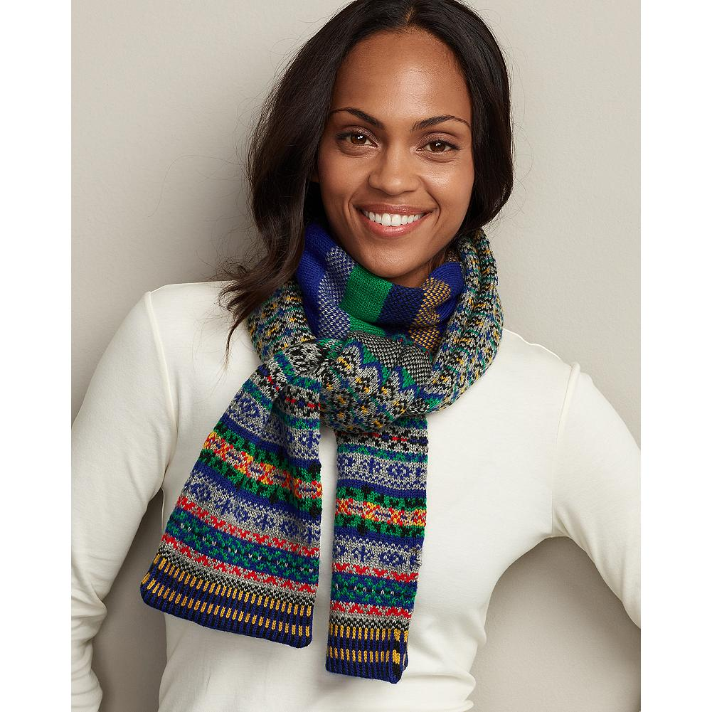 Eddie Bauer Fair Isle Scarf - Pretty colors and traditional patterns make this soft scarf a winter standout. - $9.99
