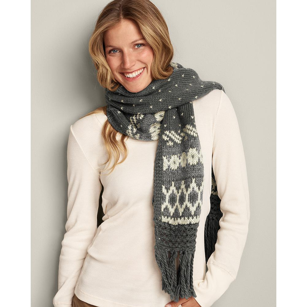 Eddie Bauer Nordic Knit Scarf - This cozy, luxe-knit scarf features a traditional pattern and ladderback construction, so it looks finished on both sides. - $14.99