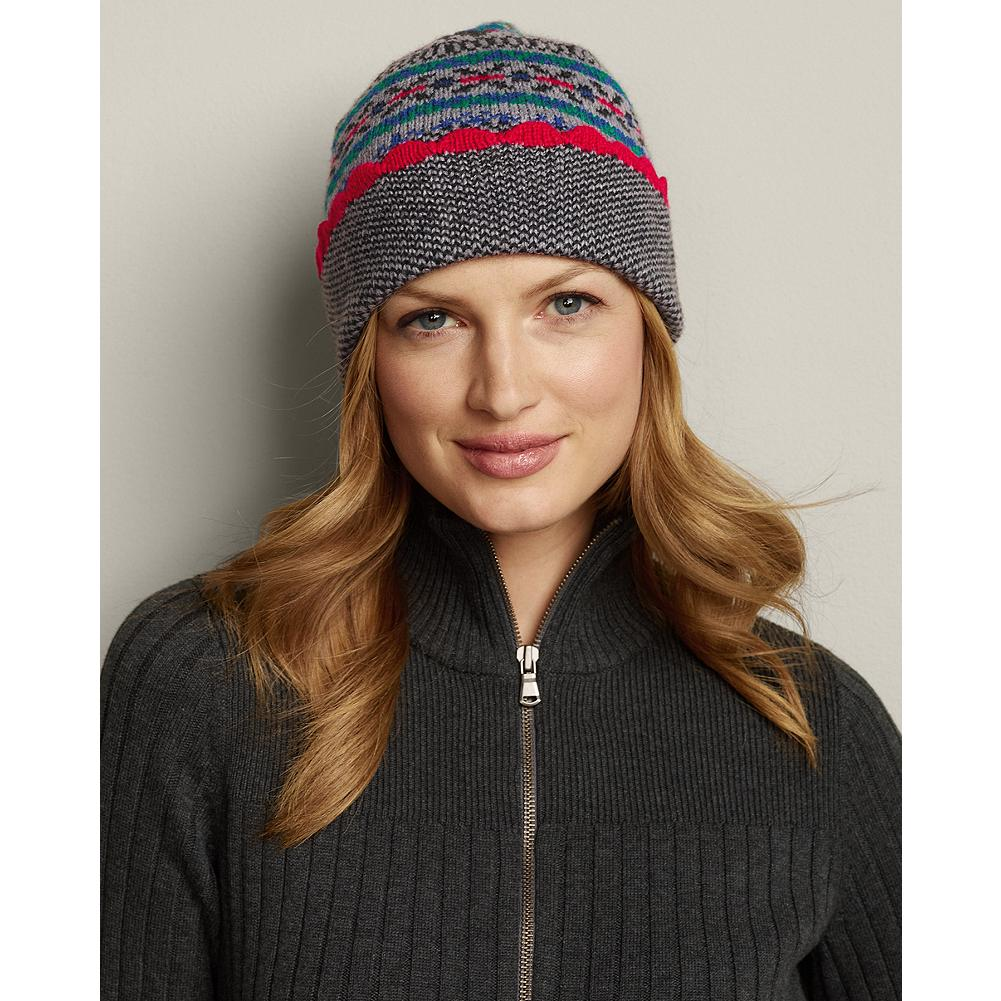 Eddie Bauer Fair Isle Hat - Soft, warm, and pretty, this knit hat features traditional patterns and festive colors. - $9.99