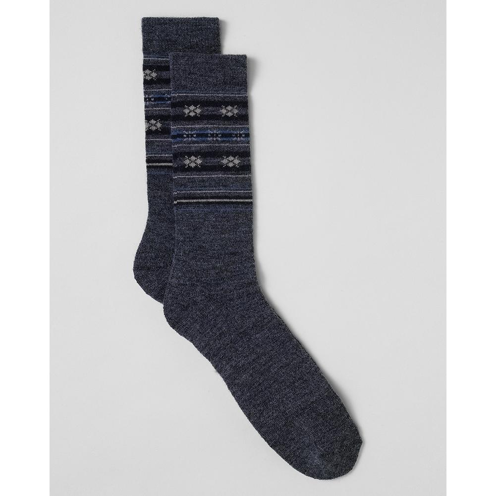 Entertainment Eddie Bauer Merino Fair Isle Crew Socks - Our merino crew socks provide added cushioning for extra foot support and comfort. - $5.99