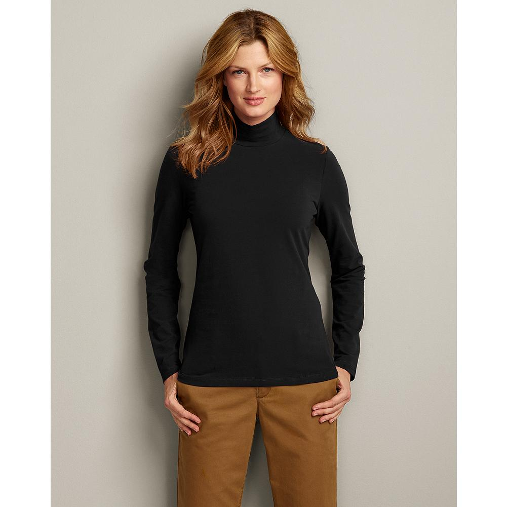 Eddie Bauer Long Sleeve Sueded Mockneck - Our double-layer mockneck features interlock knit fabric for superior warmth when the temperature drops. Beautiful on its own, this shirt's soft suede feel makes it ideal for layering under a sweater. Imported. - $6.99