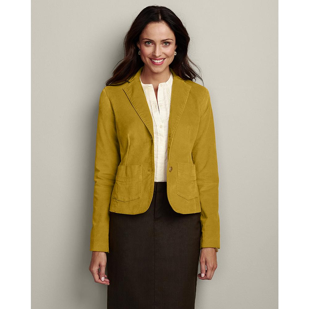 Eddie Bauer Luxe Velveteen Blazer - Our plush stretch velveteen blazer features a classic silhouette that works with skirts as well as denim. - $14.99