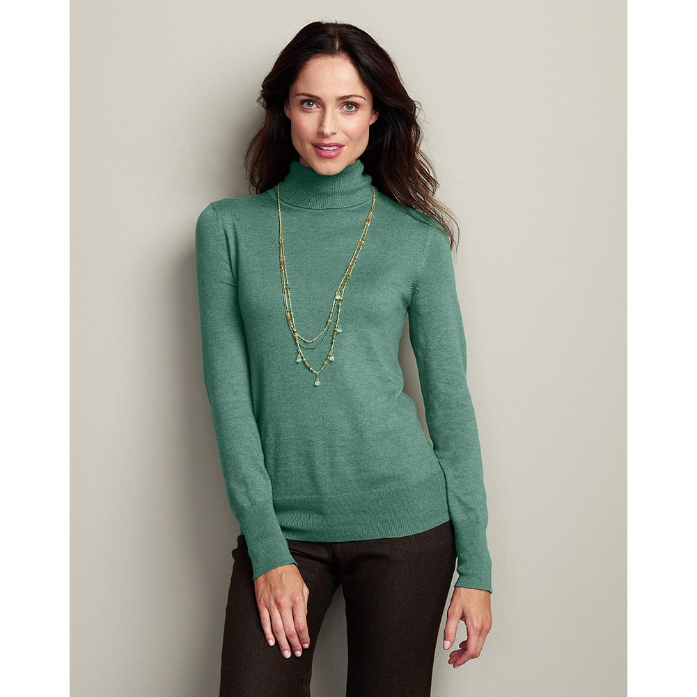 Eddie Bauer Soft Turtleneck Sweater - This fine-gauge knit turtleneck is a wardrobe staple, soft against the skin and light enough to be layered under a blazer, but substantial enough to be worn alone. - $14.99