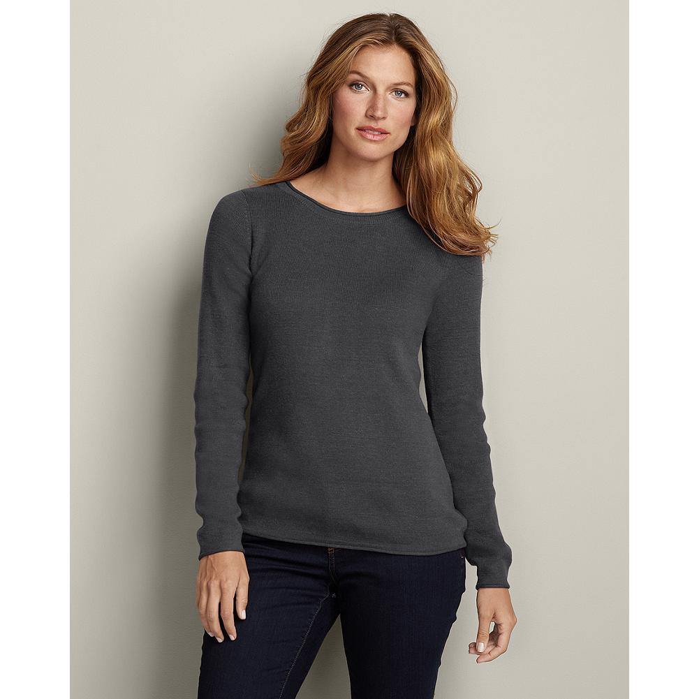 Eddie Bauer Crewneck Sweatshirt Sweater - We've updated our popular crewneck sweatshirt sweater with a softer, more substantial cotton blend that provides extra coverage, so it feels even more like a true sweatshirt. - $19.99