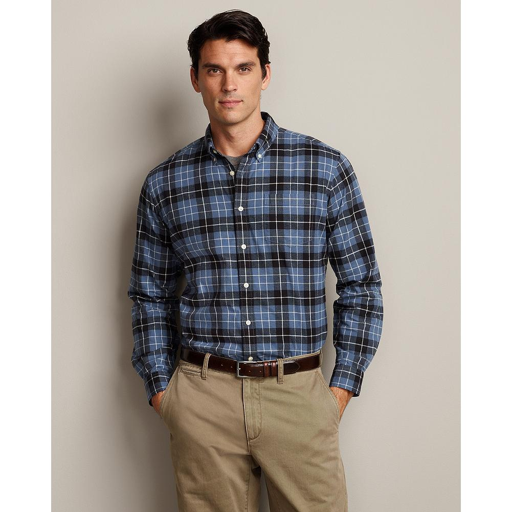 Eddie Bauer Classic Fit Legend Wash Plaid Oxford Shirt - Our cotton oxford cloth is brushed and treated with our exclusive Legend Wash to give this plaid shirt a broken-in feel the first day you wear it. - $14.99