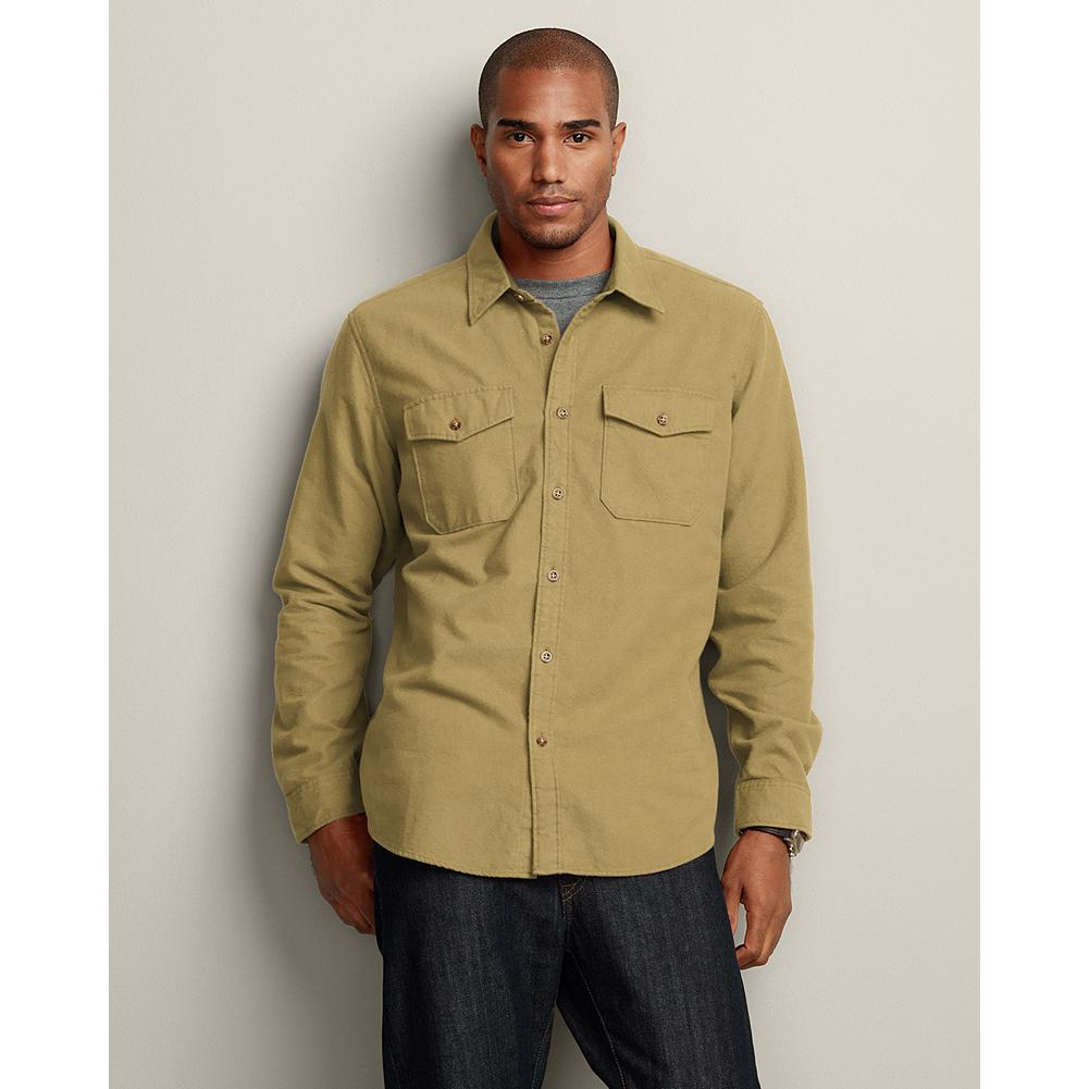 Eddie Bauer Relaxed Fit Chamois Field Shirt - This shirt is great as a warm layer when a jacket isn't needed or when you need to layer up for real cold. - $14.99