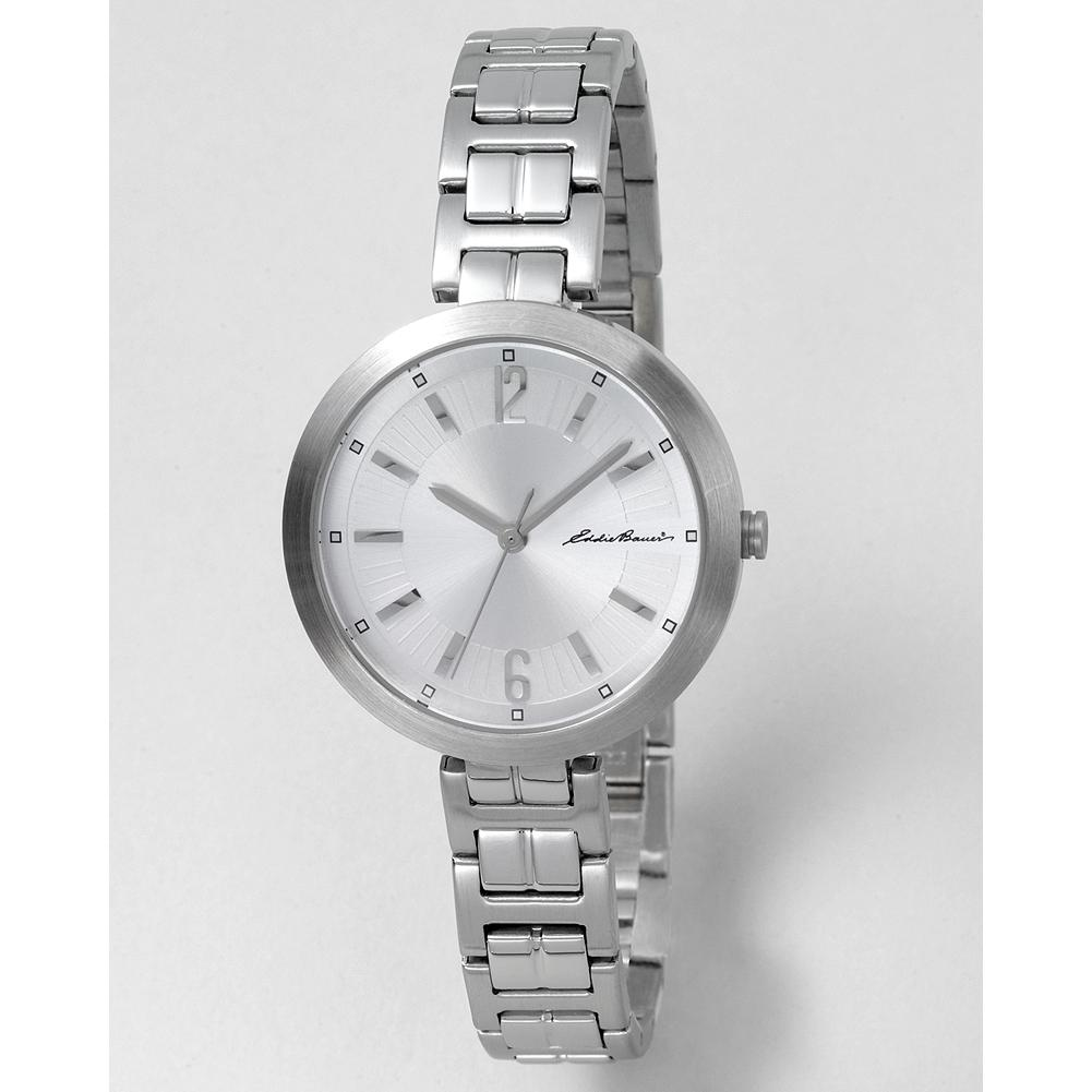 Entertainment Eddie Bauer Women's Holiday Watch - Our stainless steel women's holiday watch features an attractive round face with a self-adjusting jewelry clasp bracelet. - $49.99