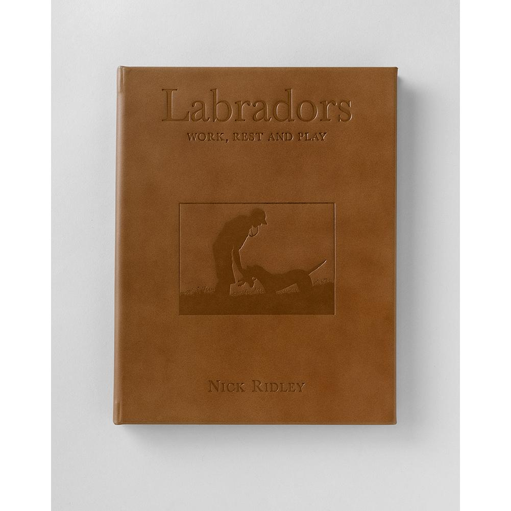 Entertainment Eddie Bauer Leather Lab Book - This leather-bound version or Nick Radley's book, Labradors: Work, Rest and Play captures the beauty and charm of Eddie's favorite breed. Stunning color photographs throughout. - $19.99