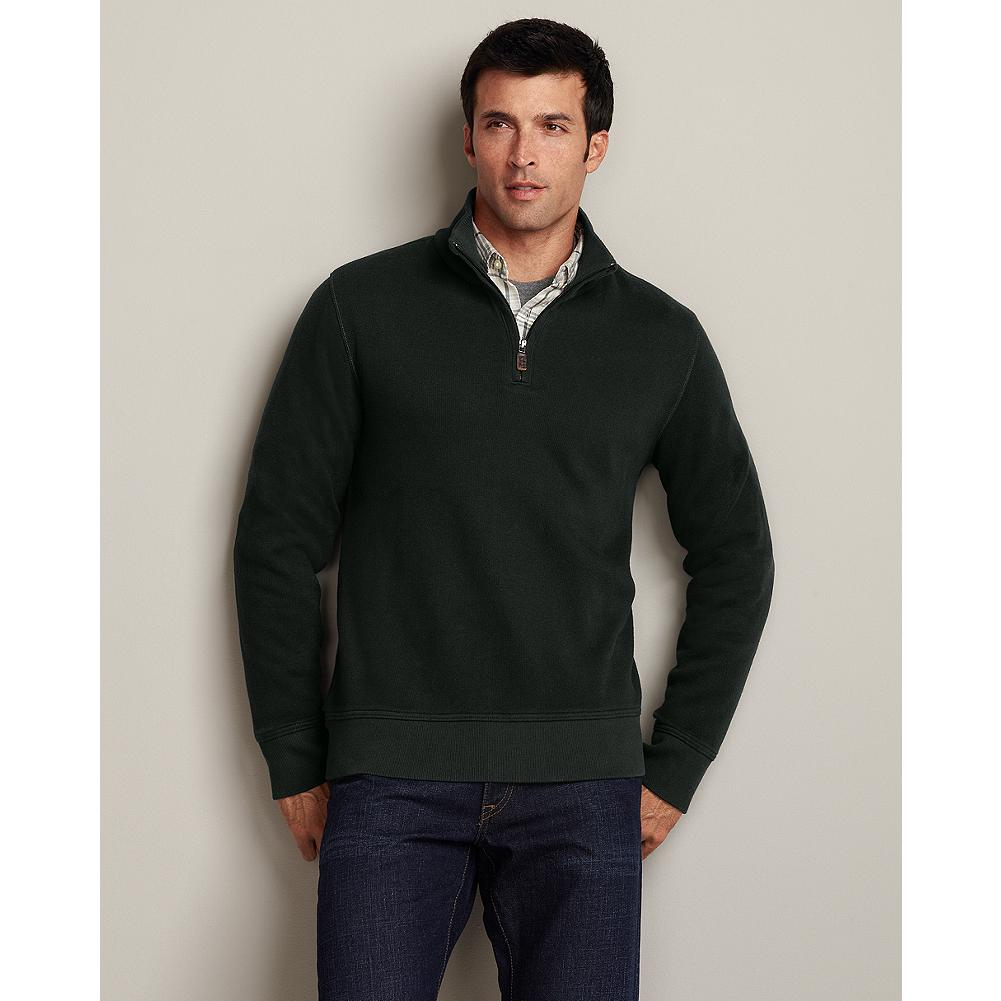 Eddie Bauer French Rib Quarter Zip - We're bringing back a longtime favorite, because it has the classic good looks of a sweater and the relaxed comfort of a knit. Works equally well over a button-down shirt or a casual crew. - $29.99