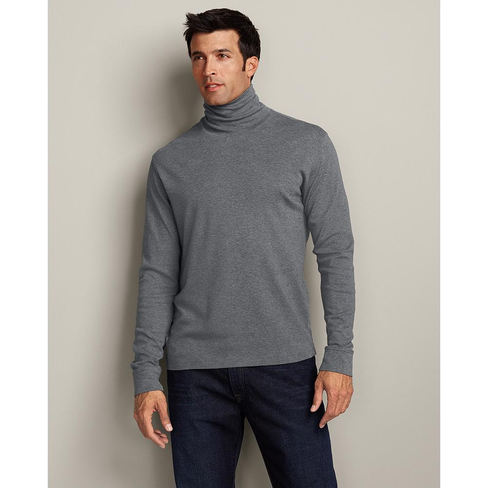 Eddie Bauer Classic Fit Interlock Turtleneck - Smooth interlock makes this Turtleneck an ideal first layer in cooler weather. For durability, we use special stitching to help prevent twisting and rips. Imported. - $9.99