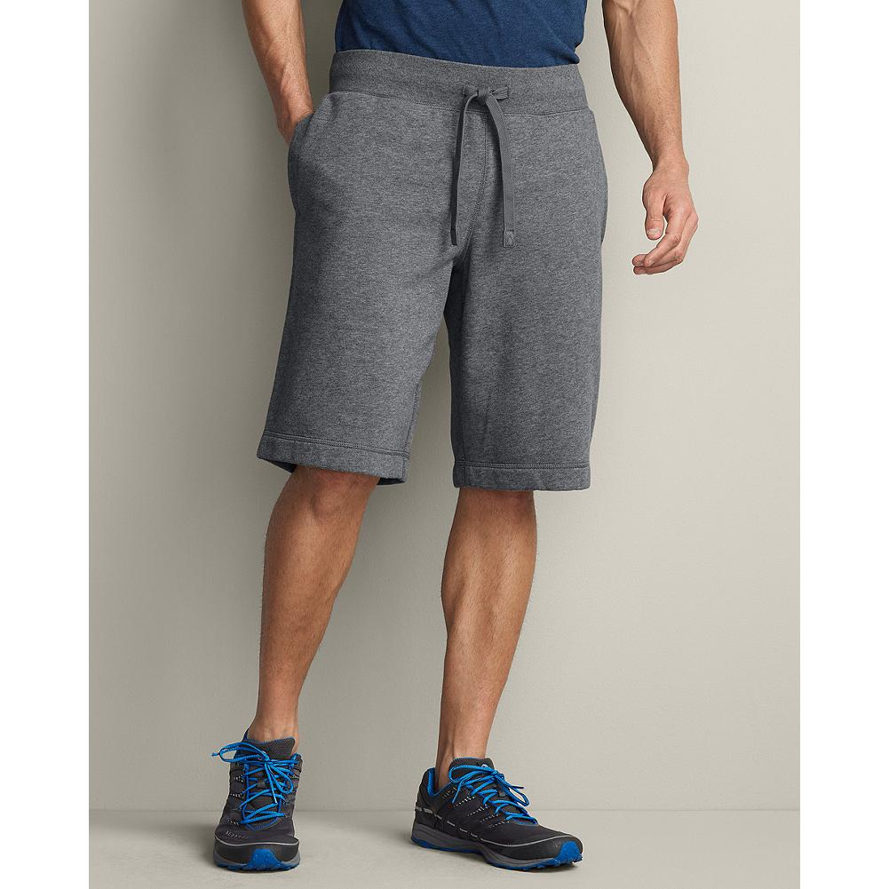 Eddie Bauer Eddie's Signature Fleece Shorts - Demand the best and get it with our signature fleece shorts--proven superior to the competition in colorfastness, durability and shrink-resistance. Supersoft comfort. Elastic/drawcord waist; three pockets. - $9.99