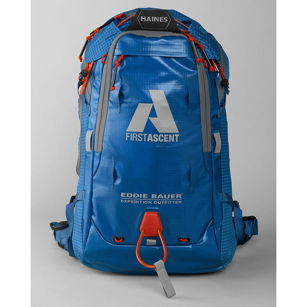 Camp and Hike Eddie Bauer Haines Pack - Guide built by some of the best in the industry, the Haines pack is built for day trips in the back country to long term traverse and multiday use. Expandable like our Alchemist pack, the Haines has the ability to grow to 45L to carry larger loads into a camp or hut, but also shrink down to 35L carry the essentials for accessing your favorite line. - $249.00