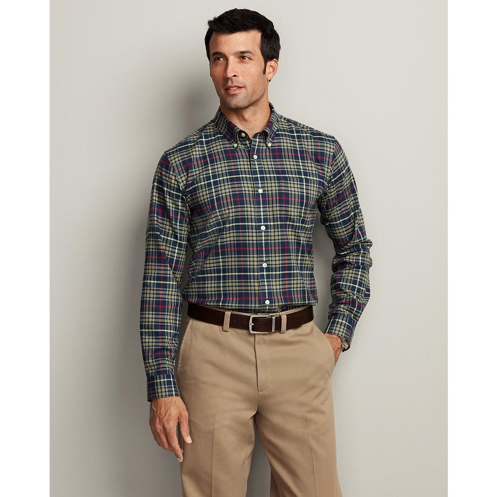 Entertainment Eddie Bauer Classic Fit Sportsman Cotton Wool Shirt - Warm and soft, this cotton/wool blend shirt features lodge-to-field styling and bold plaids. - $29.99