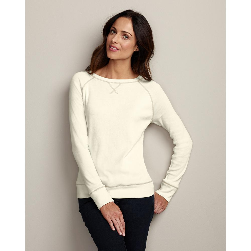 Eddie Bauer Legend Wash Sweatshirt - Sure to be an instant favorite, our crewneck sweatshirt features a relaxed silhouette and sueded cotton/polyester for exceptional comfort. Our exclusive Legend Wash ensures exceptional softness. - $29.99