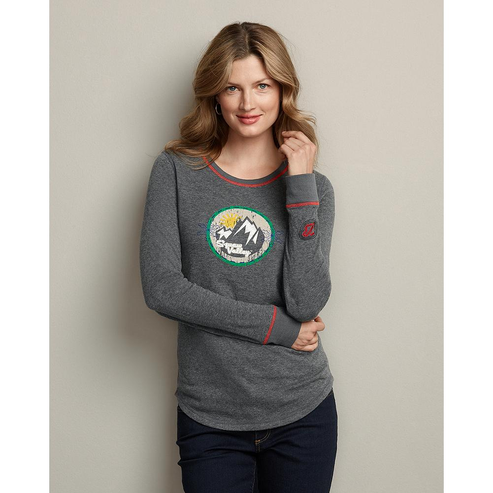 Eddie Bauer Long-Sleeve Squaw Valley Placed Graphic T-Shirt - Our double-knit cotton T-shirt features graphic artwork and logo embroidery inspired by Squaw Valley, site of the 1960 Winter Olympics. - $14.99