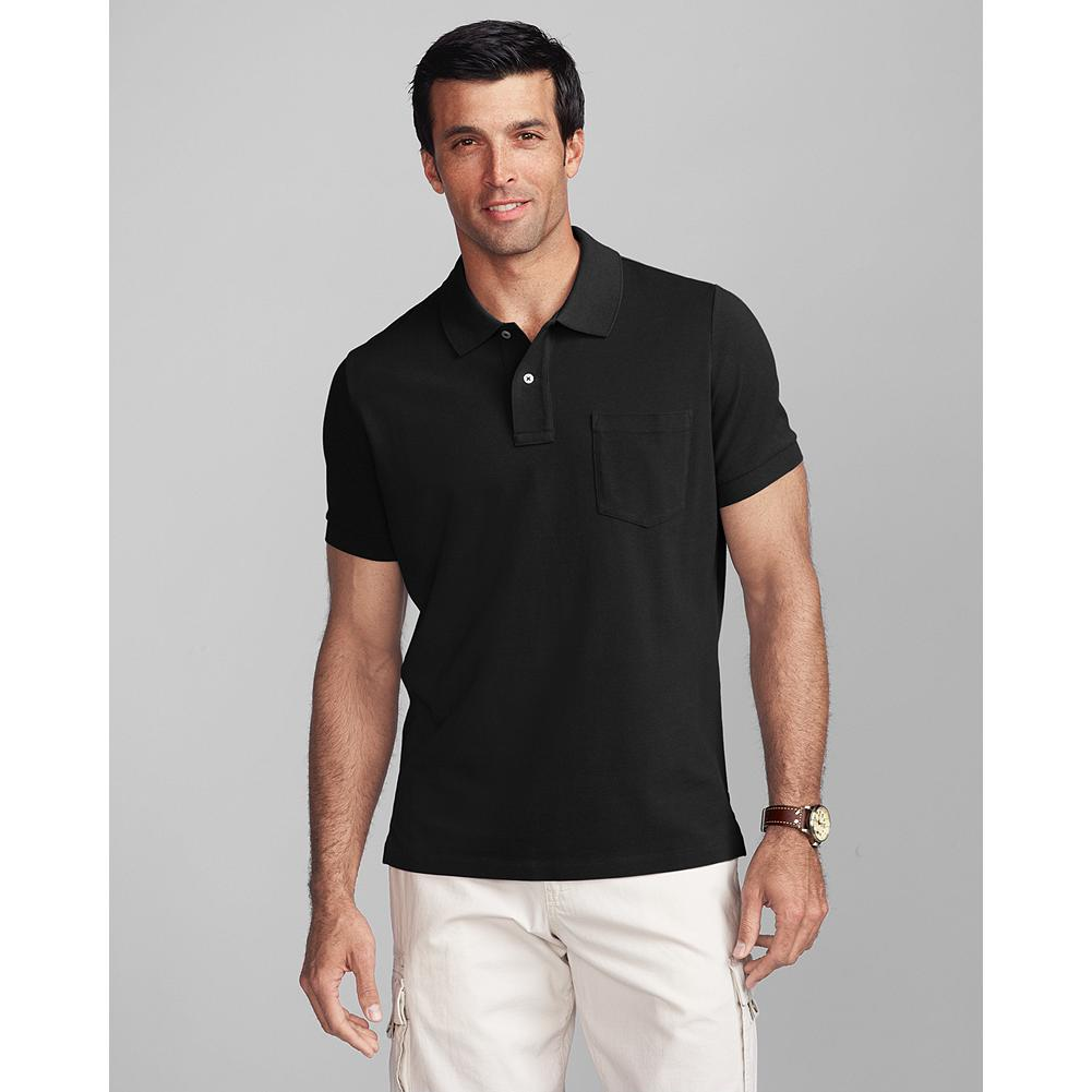 Eddie Bauer Short-Sleeve Classic Fit Pocket Field Pique Polo Shirt - We've improved the fit, from the shoulders all the way through the torso. Even the sleeves fit better than ever. - $9.99