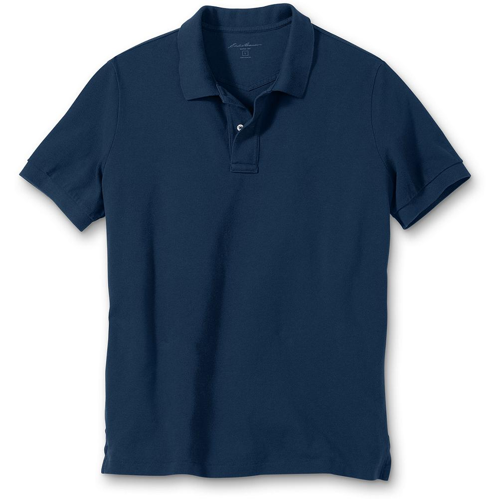 "Eddie Bauer Classic Fit Field Pique Polo Shirt - Show your true colors with this fresh crop of polos. 100% combed cotton pique resists wrinkles, fading, shrinking, pilling and gives our shirts superior shape retention - including collars that stay flat. Rib flat knit collar and cuffs help with easy maintenance and allow for a classic , durable, no-nonsense style. Drop-tail hem. Length: Reg (Med) 28.5"". Imported. - $9.99"