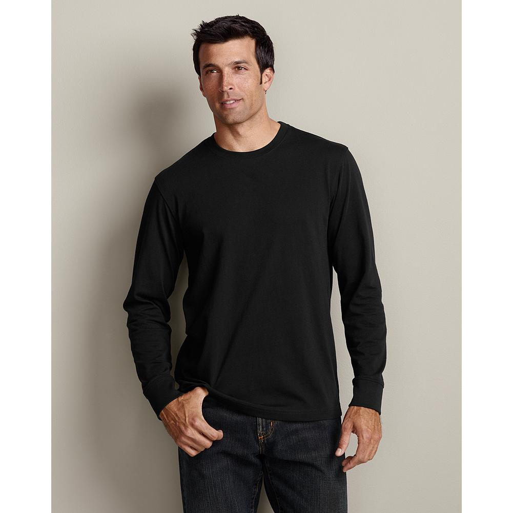 Eddie Bauer Long Sleeve Classic Fit Legend Wash T-Shirt - A T-shirt is something you could wear every day, so we build them tough. Made from high-quality combed cotton. Tested. Trusted.   Tested. Trusted. Legend Wash T-Shirts: The softest T-shirts you'll ever own. T-shirt quality is measured by the ability to withstand shrinkage, retain shape, and keep color. Through 20 washes, our Legend Wash T-shirts beat the competition in all three categories. Imported. - $24.95