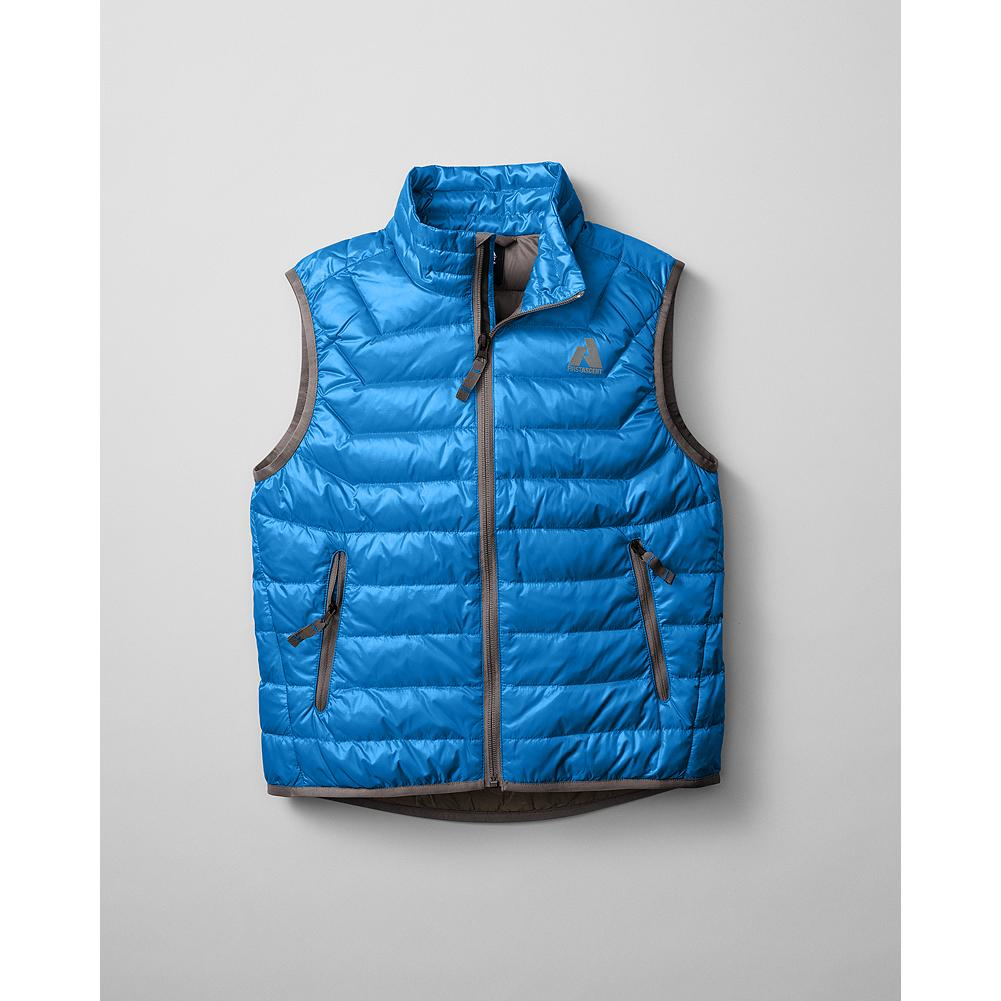 Entertainment Eddie Bauer Boys' Downlight Vest - Mountain Guide in Training(TM) Premium European Goose Down provides the lightest, warmest insulation. Period. - $39.99