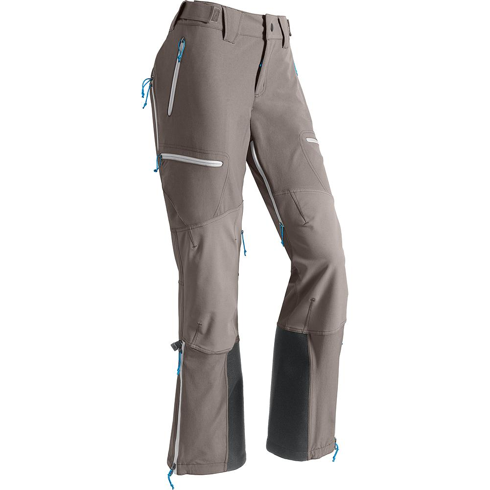 Eddie Bauer Grand Tour Pants - For overnight hut trips, midwinter tours or spring volcano season, our breathable soft shell skier's pant provides regulated comfort and elemental resistance in the backcountry. Tough, breathable stretch fabric provides flexibility when bootpacking up summit ridges and prevents overheating in steep skintracks yet also sheds snow on thigh-deep descents. - $199.00