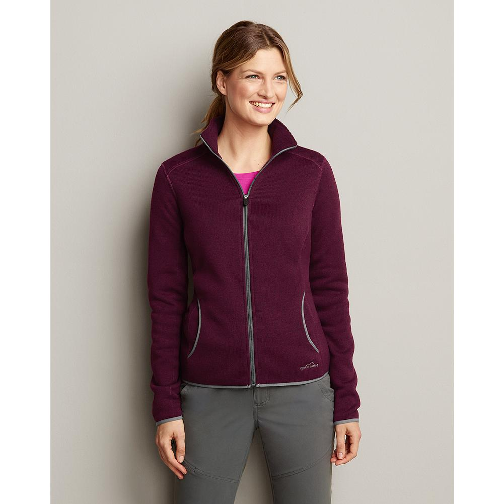Eddie Bauer Full-Zip Sweater Fleece Jacket - Our sleek full-zip sweater fleece is the perfect lightweight layer to throw over your T-shirt as the elevation goes up or the sun goes down. - $14.99