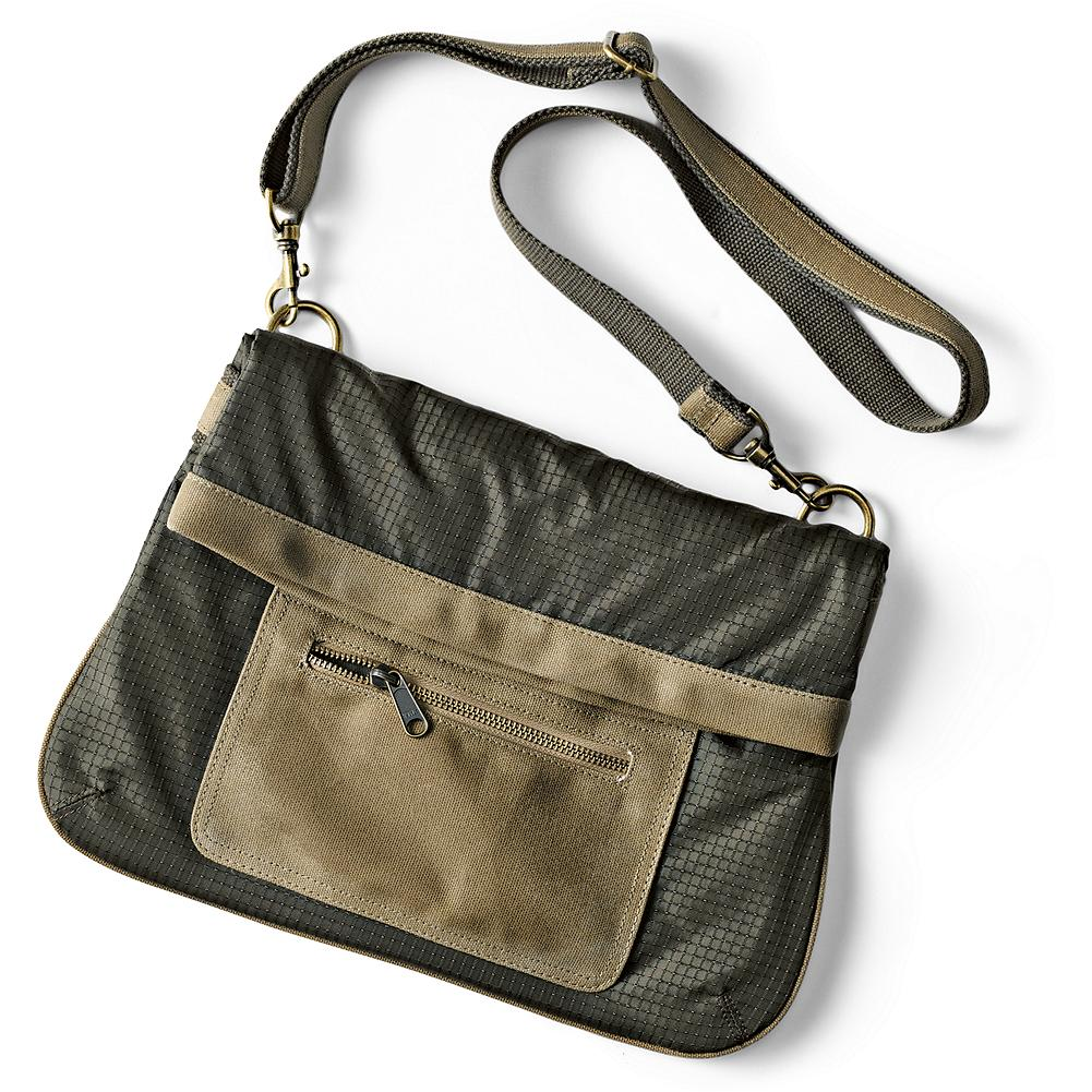 Entertainment Eddie Bauer Travex(TM) Fold-Over Travel Bag - Classic styling with plenty of functionality. Main compartment with fold-over magnetic closure. Adjustable strap. three interior pockets and front and back exterior pockets. Brass-finish hardware and polyester/cotton twill lining. Imported. - $24.99
