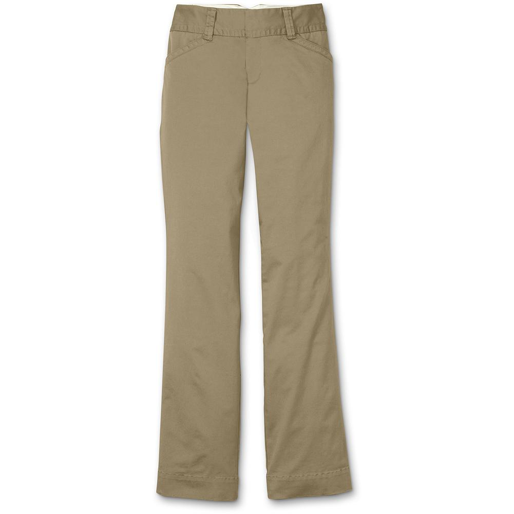 Eddie Bauer Chino Pants - This style is a good choice if you are a Blakely Fit who is slimmer through the thigh and knee. Like our other chinos, they're made with a touch of stretch for all-day comfort. Contoured waistband fits smoothly without gapping. Cotton/elastane. Imported. - $14.99