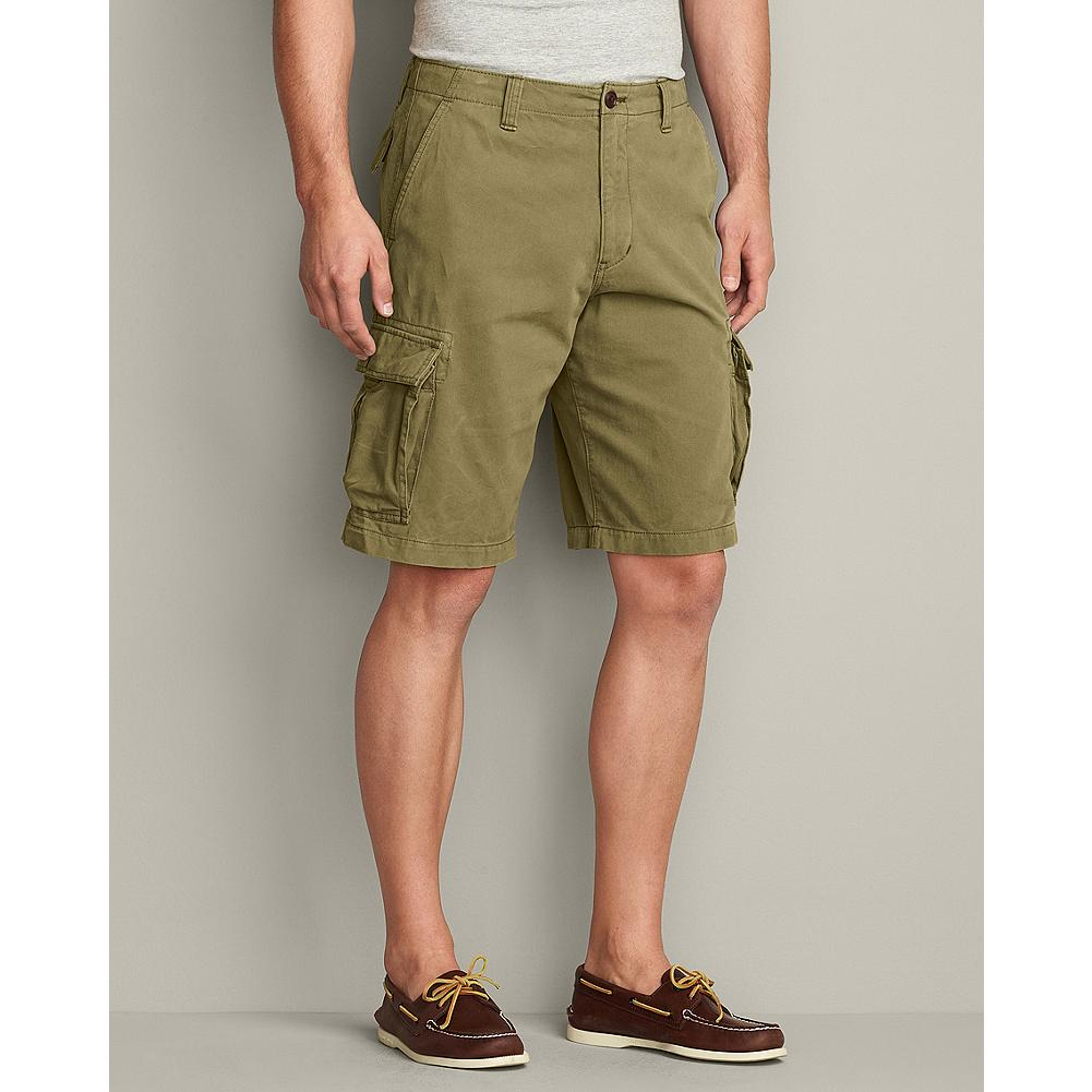 Fitness Eddie Bauer Legend Wash Expedition Cargo Shorts - These sturdy twill shorts are ready for adventure with extra-large reinforced cargo pockets, back flap pockets, and a soft, broken-in feel. - $49.95