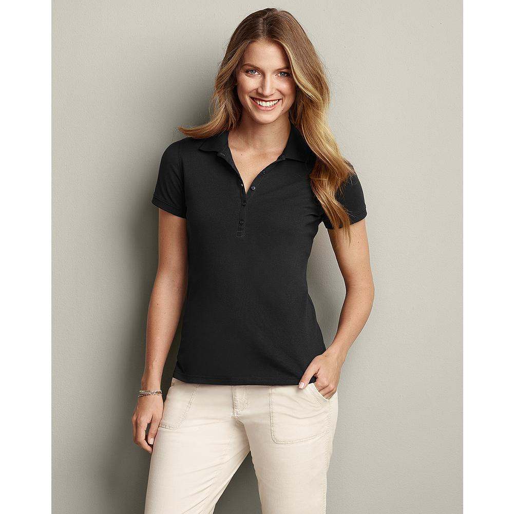 Golf Eddie Bauer Travex Polo Shirt - A more active version of our classic polo shirt, in our moisture-wicking, easy-care Travex fabric. Perfect for golf, hiking or any warm-weather pursuit. - $19.99