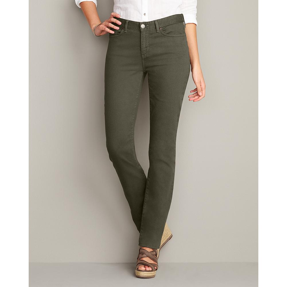 Eddie Bauer Slightly Curvy Straight Leg Color Jeans - These color denim jeans feature our Slightly Curvy fit, classic styling, and our perfect straight leg, in a rich palette of seasonal hues. Please note: Charcoal color has brown undertones. - $14.99