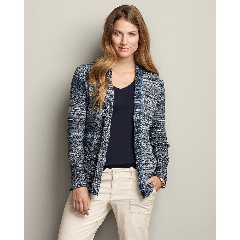 Eddie Bauer Marled Open Cardigan Sweater - This easy and relaxed cardigan is marled all over for a richly textured look, open in the front so it's easy to grab it and go. - $39.99
