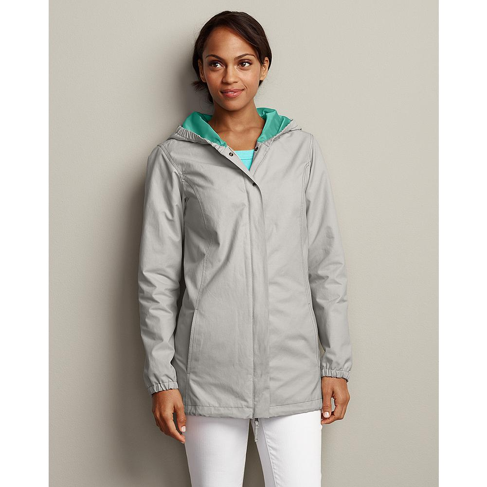 Eddie Bauer Christine Parka - An easygoing layer for cool spring days, our Christine Parka sheds spring showers with ease, and features bright, contrasting lining in both the body and hood. - $49.99