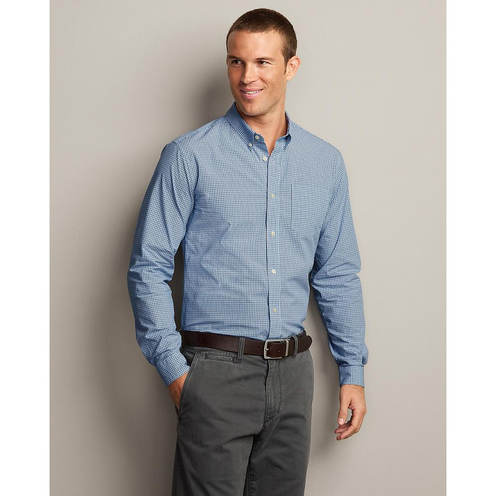 Eddie Bauer Slim Fit Legend Wash Poplin Shirt - Our exclusive Legend Wash process gives our easy poplin shirts lived-in softness and broken-in comfort from the first time you put them on. - $29.99