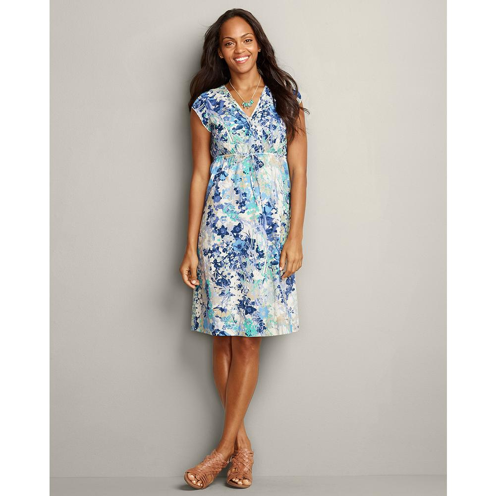 Entertainment Eddie Bauer Crinkle Cross-Front Dress - Low maintenance, lightweight and travel-friendly, our crinkle-texture dress will take you everywhere in beautiful style this summer. - $19.99