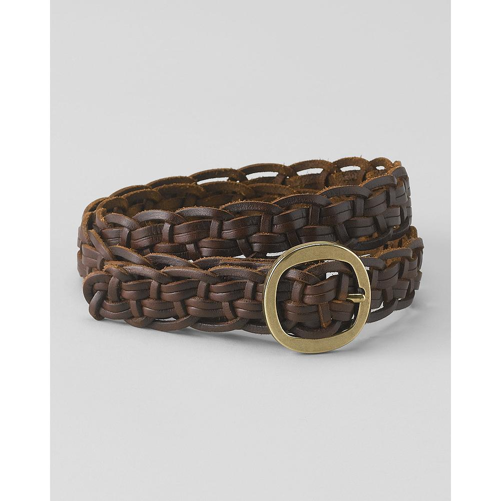 Eddie Bauer Braided Leather Belt - Our versatile braided leather belt adds the perfect finishing touch to any warm-weather outfit. - $9.99
