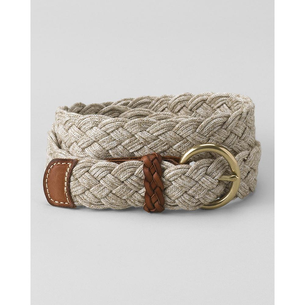 Eddie Bauer Maritime Belt - This casual belt is made of braided linen-blend cord for a classic nautical look that's perfect with your favorite summer shorts and pants. - $19.99