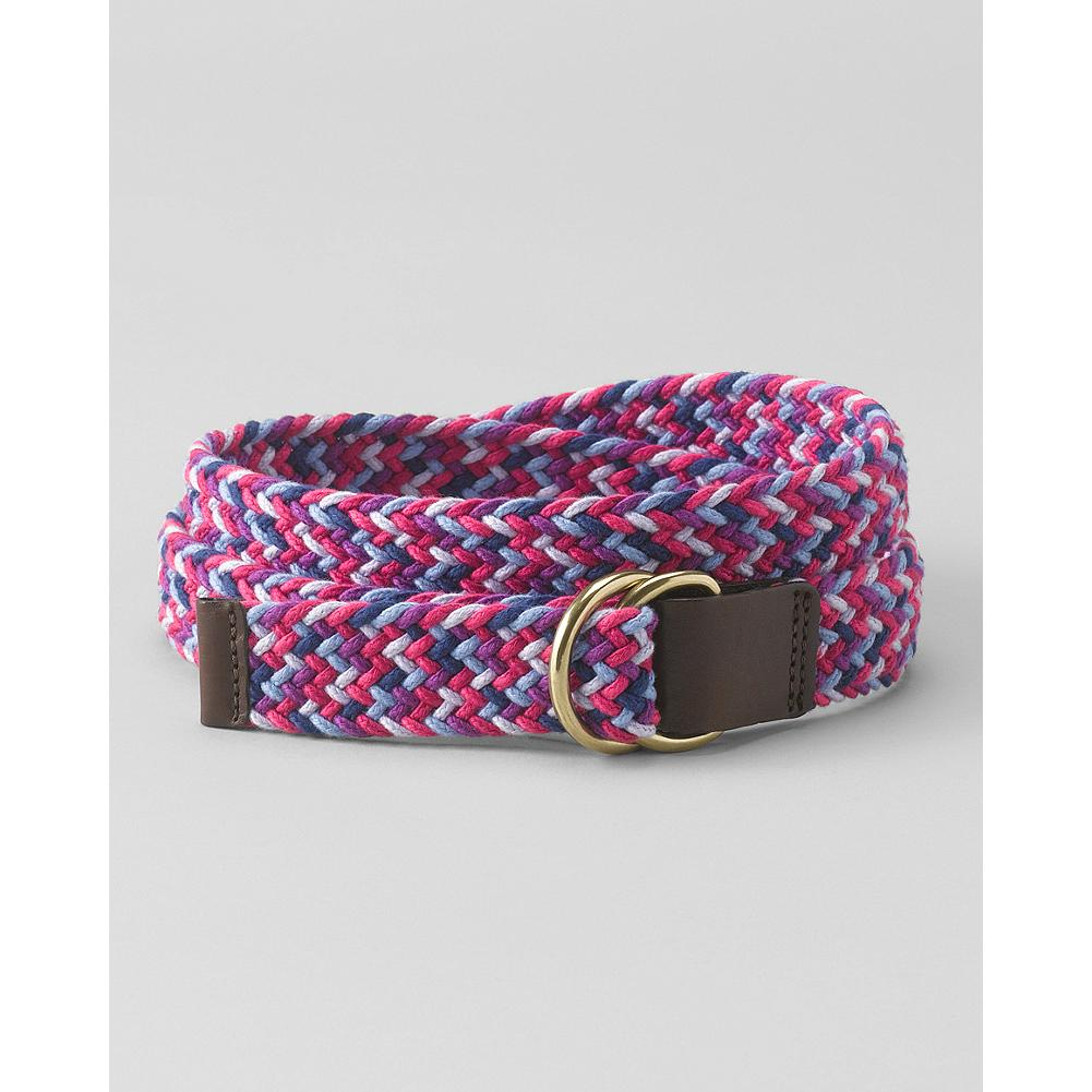 Eddie Bauer Multi-Braided D-Ring Belt - Our braided cotton belt adds a bright pop of color to any casual outfit. - $9.99