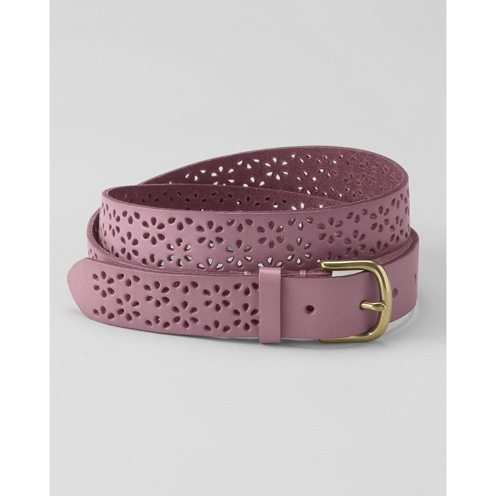 Eddie Bauer Perforated Floral Belt - Our charming perforated leather belt adds a feminine touch to any outfit. - $9.99