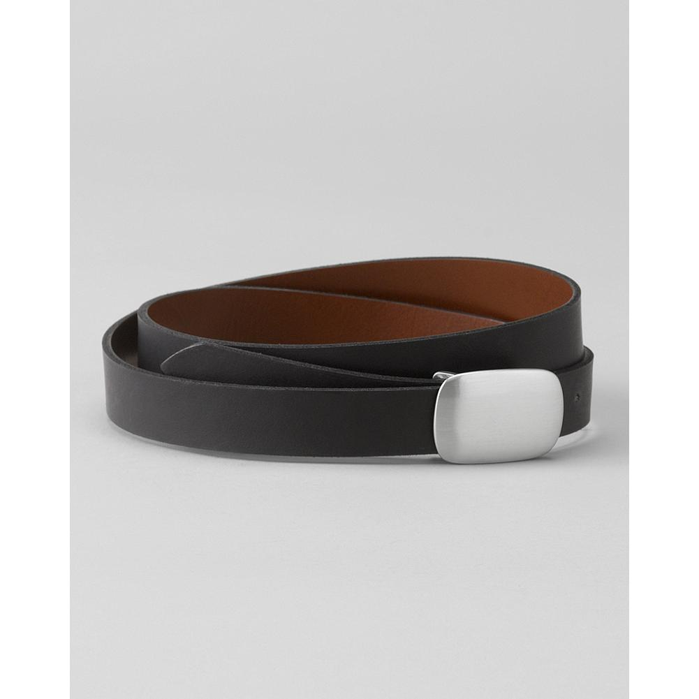 Eddie Bauer Reversible Belt - Our smooth leather belt reverses from black to dark brown, making it a go-to accessory for outfits of all kinds. - $39.95