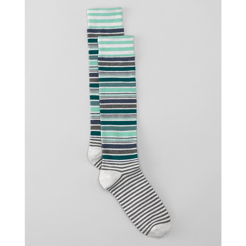 Eddie Bauer Coolmax Striped Boot Socks - Designed to be worn with boots, these soft, breathable socks are knit in moisture-wicking-blend of cotton, nylon and spandex. - $5.99