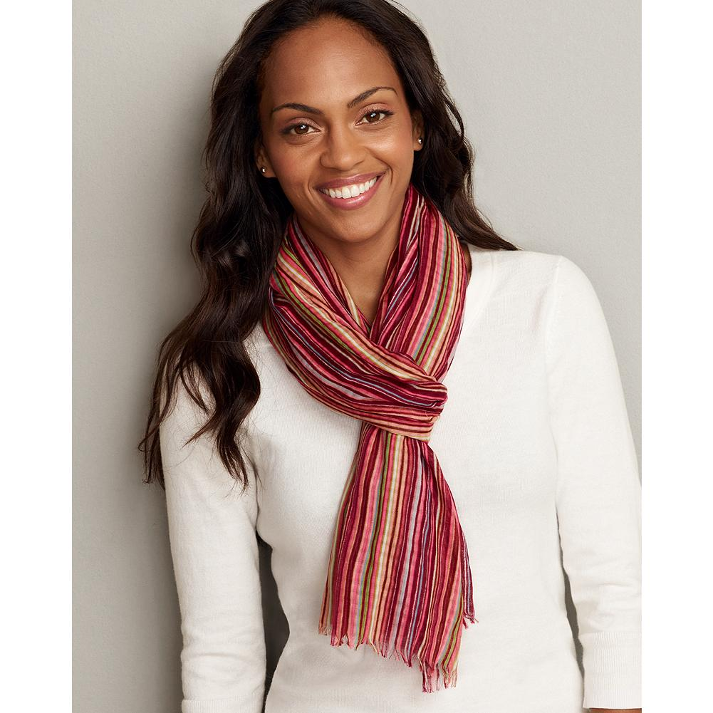 Eddie Bauer Multi Stripe Scarf - Add some color to your summer look with this vibrant woven cotton scarf. - $29.99