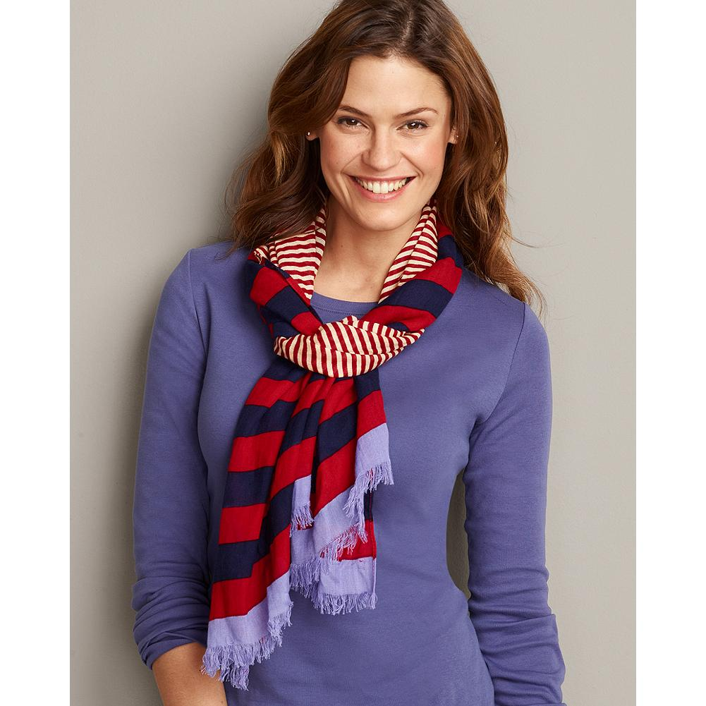 Eddie Bauer Nautical Stripe Scarf - Our breezy nautical-inspired scarf features multiple-width stripes in lively summer colors. - $19.99