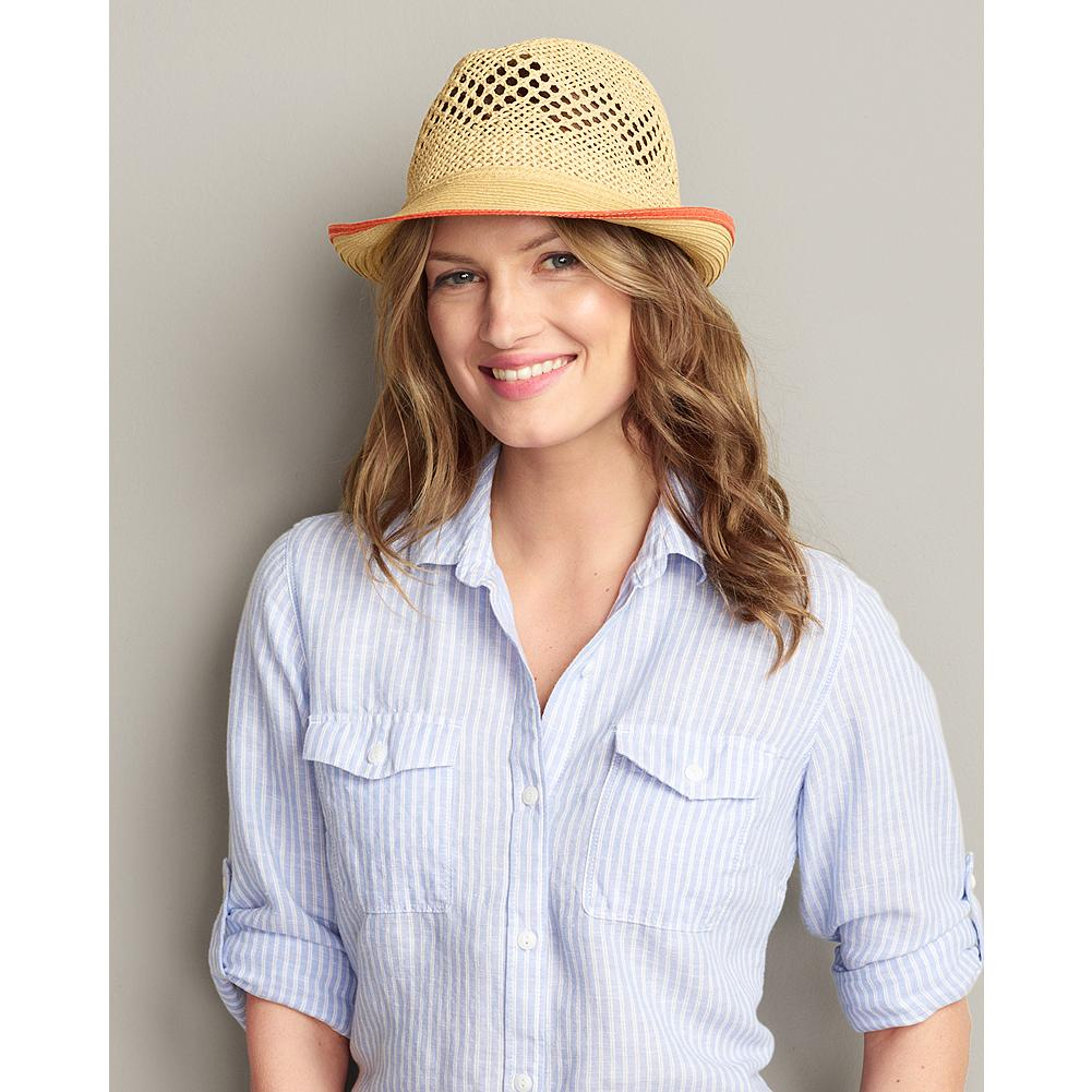 Eddie Bauer Straw Fedora Hat - Our breezy straw fedora tops off any summer look and provides lightweight protection from the sun. - $29.95
