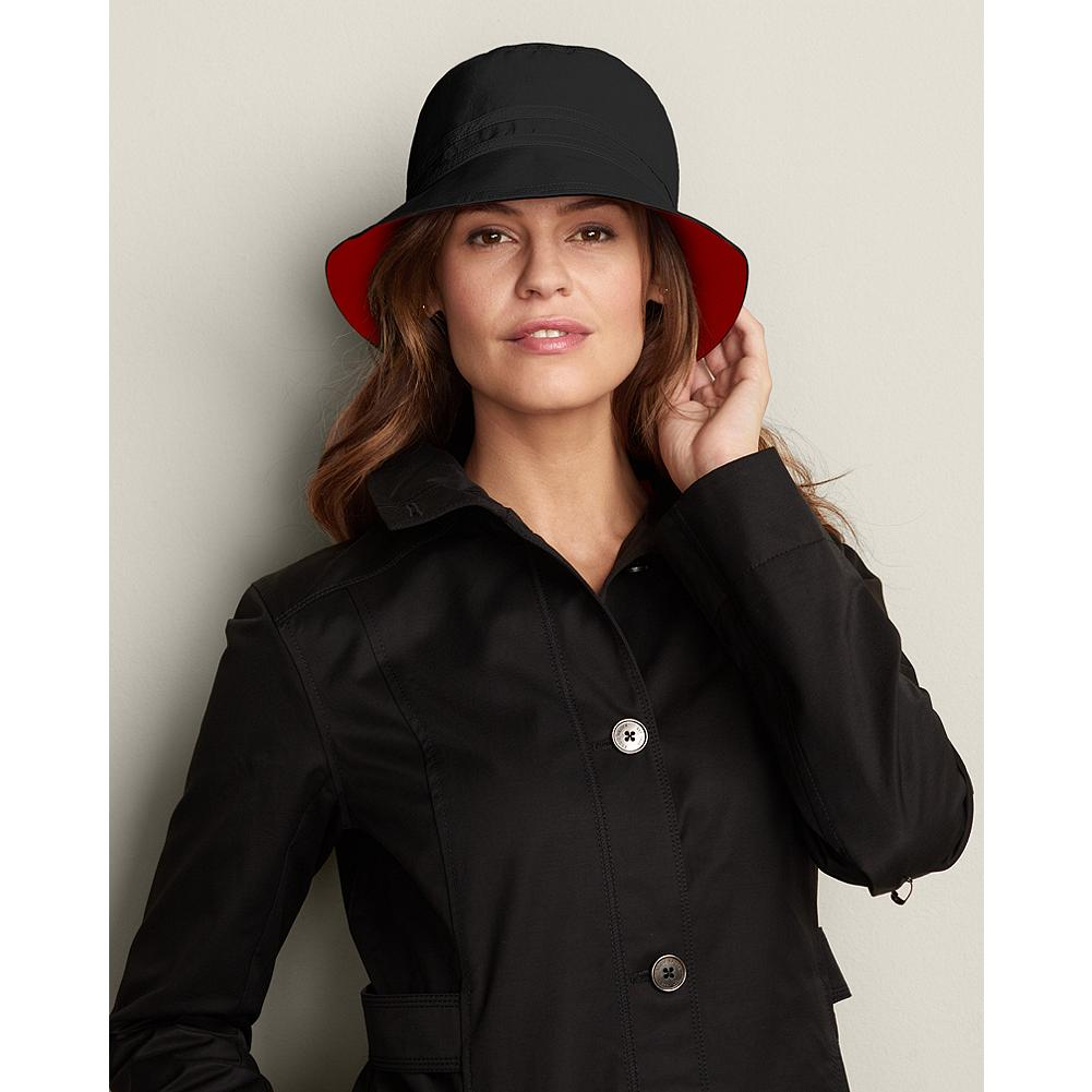 Eddie Bauer Reversible Rain Hat - Our charming rain hat sheds spring showers with ease and reverses to a contrasting color for added versatility. - $9.99