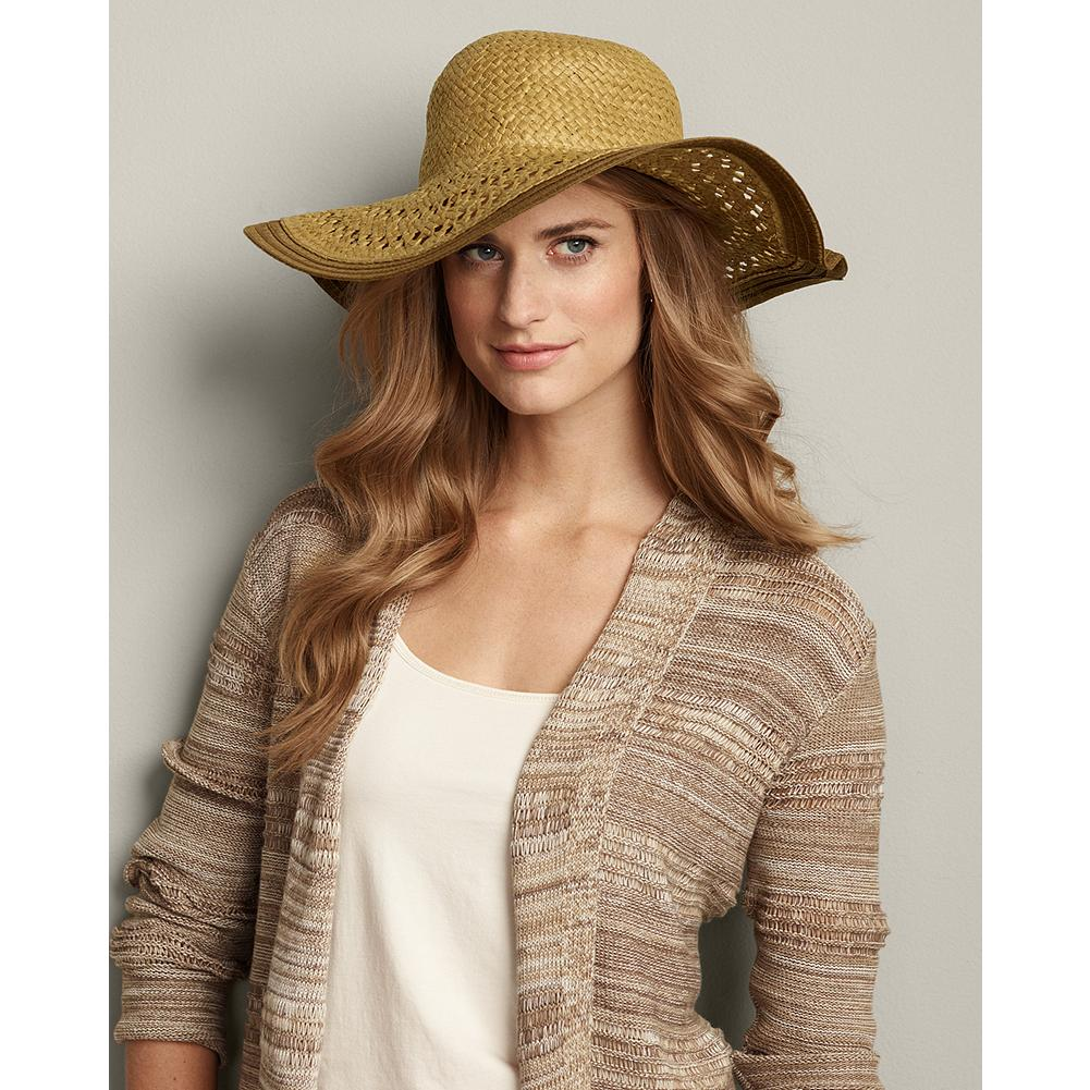 Eddie Bauer Packable Straw Beach Hat - Pack this openweave straw hat in your carry-on our beach bag for stylish protection from the sun no matter where your summer adventures may take you. - $14.99