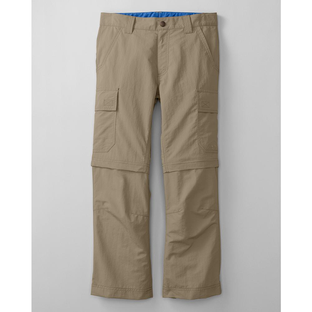 Entertainment Eddie Bauer Boy's Travex Convertible Pants - Mountain Guide in Training(TM) The trek and trail performance of Travex in a convertible pair of pants for boys. With fast-dry, moisture-wicking and UV protection properties built into the nylon fabric. - $39.95