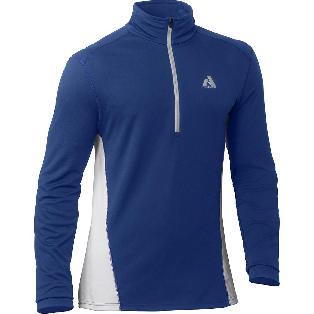 Eddie Bauer Circuit 1/4-Zip Baselayer - Used either as a spring-weight baselayer or for cool-weather training, this efficient wicking shirt moves sweat quickly to keep you dry. A deep front zipper dumps excess heat fast. - $34.99