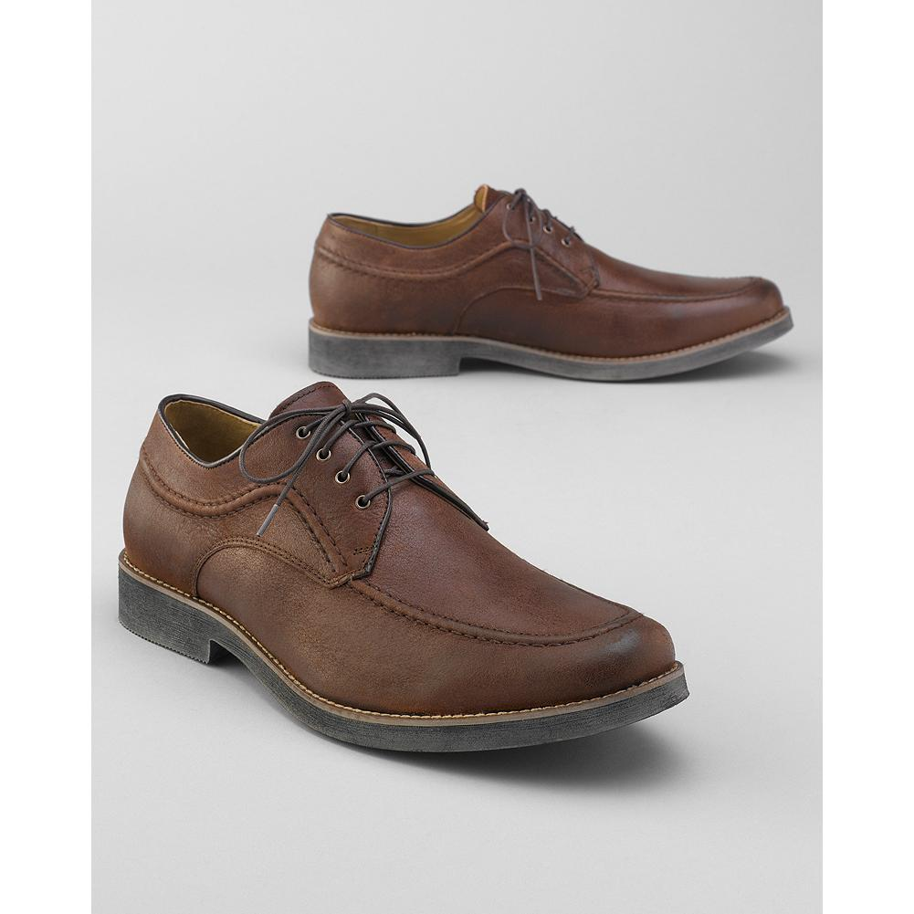 Hush Puppies Commemorate Oxford Shoes - Hush Puppies incorporated a distressed leather upper and hand-finished look to update the standard oxford. Molded latex sock cushioning, sheepskin leather-trim lining and rubber sole. Imported. - $34.99