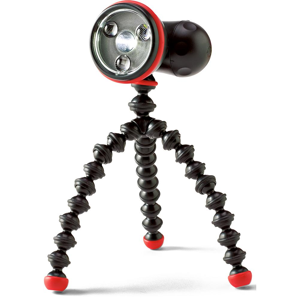 Joby Gorilla Flare Torch - Flexible legs and magnetic feet attach securely to almost anything, for hands-free work. Single 100-lumen LED, plus 3 red LEDs for emergencies. Six light settings. Drop- and water-resistant. Imported. - $24.99