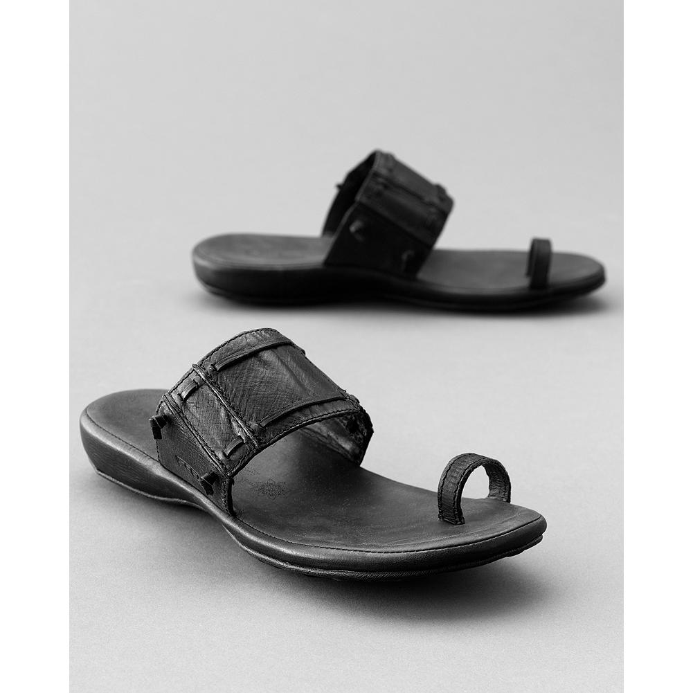 Entertainment Keen Emerald City Sandals - Slide into summer with comfy contoured sandals. Leather upper; threaded lace detail. Leather-wrapped midsole/burnished footbed cover. Rubber sole. Imported. Sizes 6-10,11 - $39.99